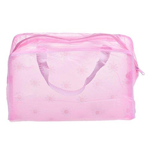 Tonsee® Maquillage Portable cosmétique de toilette Voyage Wash Brosse à dents Pouch Sac Organisateur (rose)