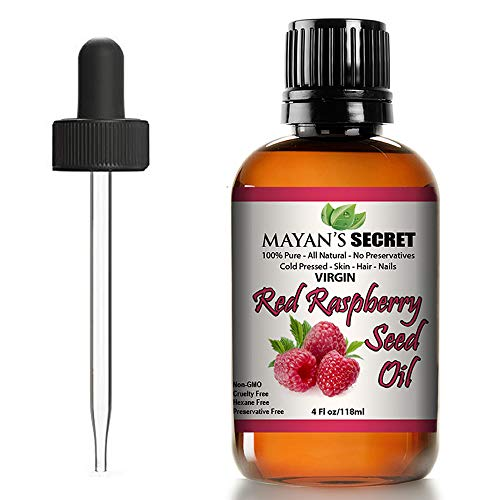 Red Raspberry Seed Oil Cold Pressed Unrefined (Virgin) Undiluted 100% Natural for face, hands,scars and breakouts (1 fl oz) (Red Raspberry Seed Oil, 4 fl oz)