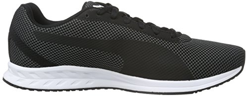 Puma Burst Mesh, Chaussures de Running Compétition Homme Noir - Schwarz (puma Black-Asphalt-puma Black 01)