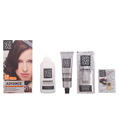 llongueras color advance hair colour 5.34 castaño claro dor