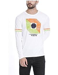 Yukth Men's Full Sleeve Printed Round Neck T-shirt