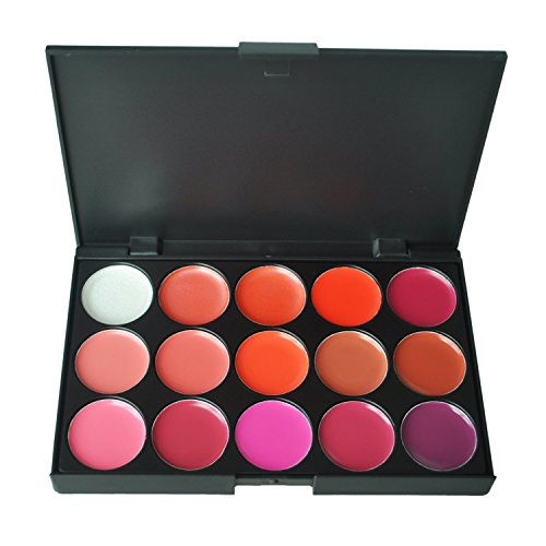 TOOGOO(R) Palette rouge a levres lip gloss 15 couleurs maquillage pro