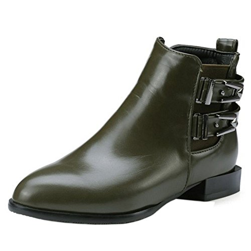 Verde Donne Tacco Boots Basso Martin Taoffen Stivaletti 1331 6pEnqz0