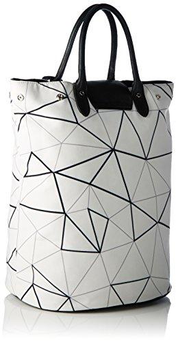 Boscha - Boscha, Borsa a spalla Donna Multicolore (black/white)