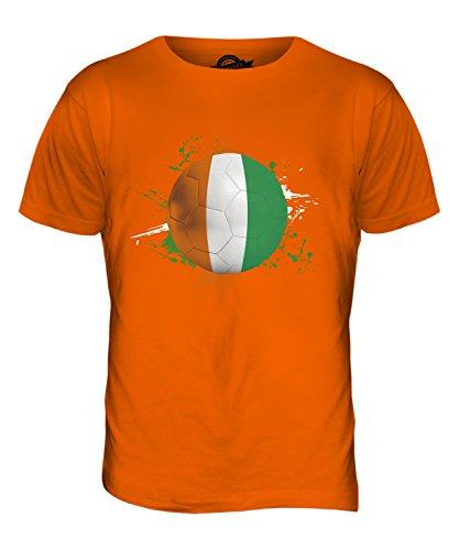 CandyMix Elfenbeinküste Fußball Herren T Shirt Orange