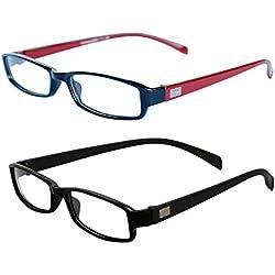 MagJons Black & Brown Unisex Eyeglasses Frame - Combo Of 2