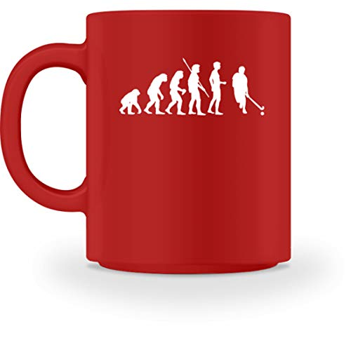 shirt-o-magic Hockey: Evolution Hockeyspieler - Tasse -M-Rot (Jersey Hockey Evolution)