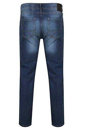 Herren Tokyo Laundry Trey Slim Fit Jeans Mitte Blau