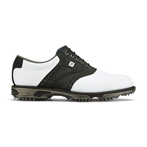 Footjoy Herren DryJoys Golfschuhe - Wasserdicht (45, White/Black)