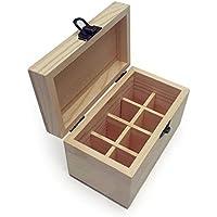 Holz ätherisches Öl Flasche Aufbewahrungsbox, Multifunktions-Holz-Organizer 8 Slots für 5ml Flaschen ätherische... preisvergleich bei billige-tabletten.eu