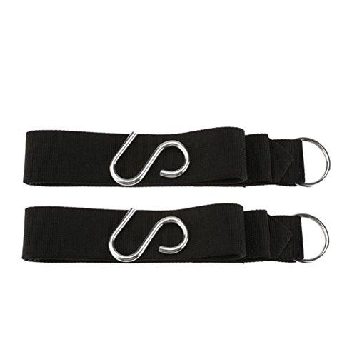 Beautyrain Hamac Arbre Strap Camping en plein air Anti-dérapant résistant de corde forte accrochante Sangles de ceinture avec crochet