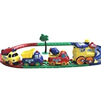 JAY ANTIQUES Battery Operated Cartoon Play Train Set (Multicolour, 3+ Years)