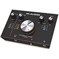 M-Audio M-Track 2X2 | 2-In / 2-Out 24/192 USB Audio Interface For High-Resolution, Studio Grade-Recording Including the C-Series Software Suite For Immediate Creative Potential