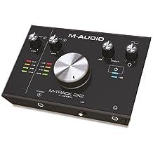 M-Audio M-Track 2x2 24-Bit/192 kHz USB Audiointerface mit Crystal Preamps/+48 V Phantomspeisung, Cubase LE und umfangreiches Softwarepaket