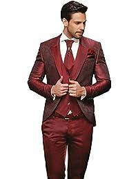 Herren Anzug - 8 teilig - Bordeaux Rot Hochzeitsanzug TOP ANGEBOT NEU PC_20