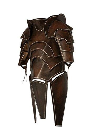 Dunkelelfen - Deal, LARP Lederrüstung mit Untergewand und Armschienen Samurai Mittelalter Größe M oder L (Armschienen Arm Kostüm)