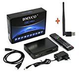 Receptor de TV Digital Satélite Decodificador DVB-S2 Full 1080P HD Soporte PowerVu Biss Key...