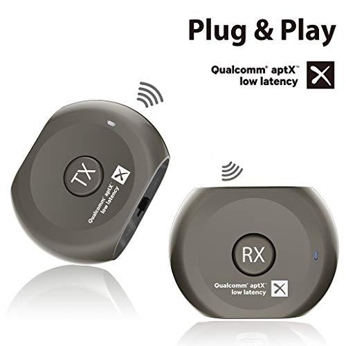 Avantree Lock Set Pre-emparejados aptX BAJA LATENCIA Bluetooth Transmisor y Receptor para...