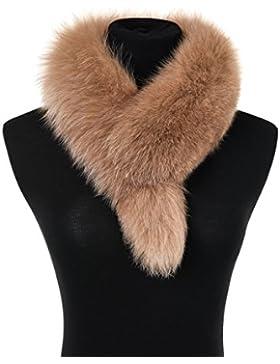 Ferand Ladies elegante real de piel de zorro cuello bufanda Wrap para las mujeres
