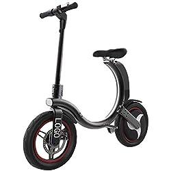 Bicicleta EléCtrica PortáTil Plegable,Bici Plegable Scooter,Rango De 30 Km,36V 350W,Adecuado para Viajes Cortos, Escuelas, Desplazamientos Al Trabajo, Evitando Atascos De TráFico