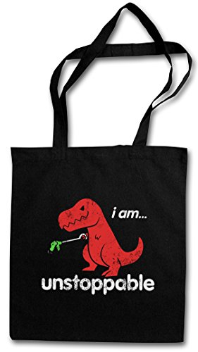 Urban Backwoods I AM Unstoppable Hipster Bag ? Tyrannosaurus Rex T-Rex Dino Dinosaurier Saurier Dinosaur Fun Monster Bambi Killed Nerd Who Joke Comedy Nerd Hipster Indie