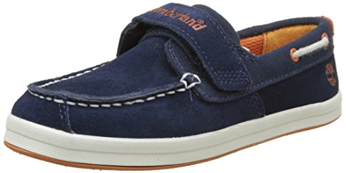 Timberland Dover Bay H&l Boatblack Iris Suede With Orange, Unisex Kids' Boat Shoes, Blue (Black Iris Suede With Orange), 1 UK (33 EU)