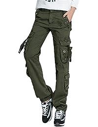 Brinny Adultes Combat Pantalons Treillis Militaire Cargo Armee Pantalon de Travail  Multi Poches Coton Hasard en 5d1af6c6aa7