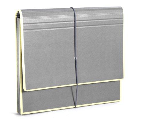 Semikolon (351987) Akkordeon mit Gummiverschluss grey (grau) - Sammelmappe/Fächer-Mappe für A4 und US Letter Size - Format: 32,0 x 27,5 cm