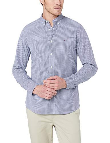 Tommy Hilfiger Herren CORE Check Shirt Freizeithemd, Mehrfarbig (Peacoat/Bright White 902), X-Large