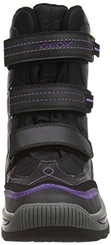 Geox  J Overland B Girl Ab, Bottes de neige de hauteur moyenne, doublure chaude fille Noir (c9999black)