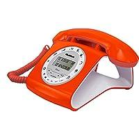 Multitek RETRO Kablolu Telefon, Turuncu