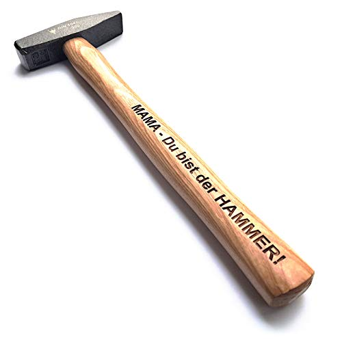 Hammer mit Gravur: MAMA - Du bist der HAMMER! | deutsches Qualitätswerkzeug in Berlin graviert | verdammt praktisches Geschenk für die beste Mutter der Welt
