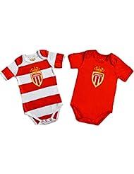 2 x body AS MONACO - Collection officielle ASM FC - Football - Taille bébé