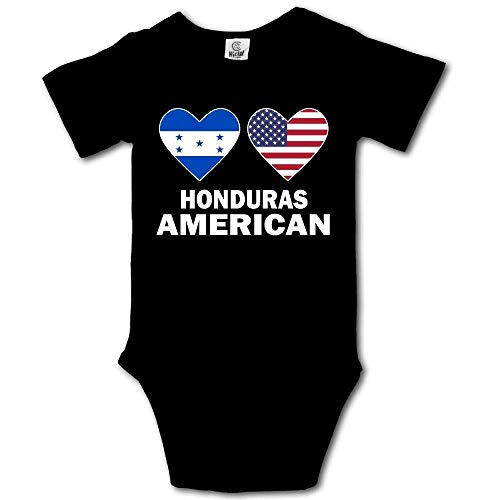 Babybekleidung Jungen Mädchen T-Shirts, Honduras American Hearts Baby Rompers Short Sleeve Infant Cotton Bodysuits Onesie - American Heart Baby T-shirt