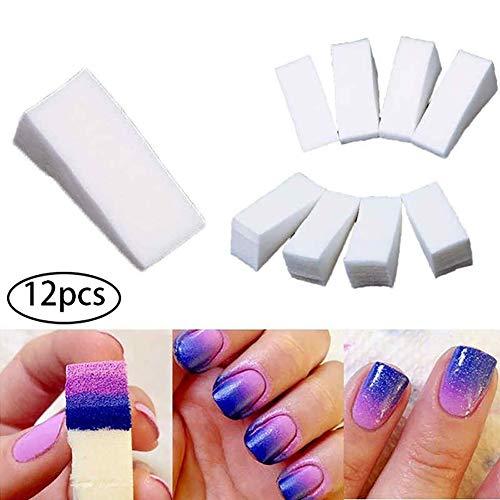 Hilai 12 UNIDS/SET Nail Esponja Maquillaje Tipo Beauty