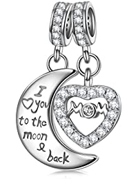 NINAQUEEN - Mom,I Love You Forever - 925 Sterling Silver Charms Nickel-free