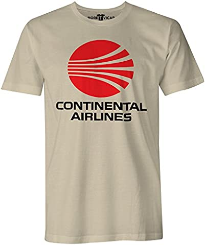 Continental Airlines - Mens Retro Airliner Logo T Shirt