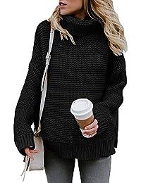 migliore a buon mercato b6e3a cc0e4 Amazon.it: maglione dolcevita nero - Donna: Abbigliamento