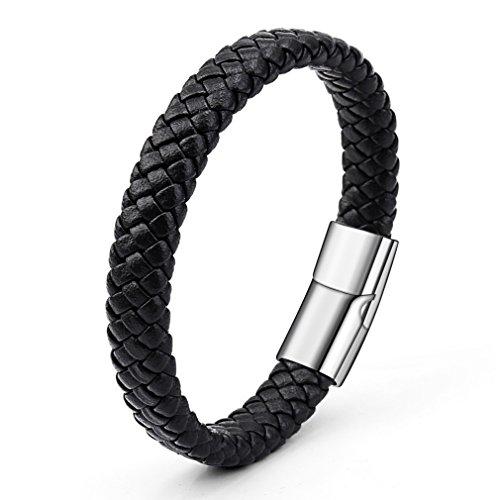 LnLyin Herren Armband Retro Armband Leder Herren Magnet Armband Hypoallergen Personalisierte Geschenke