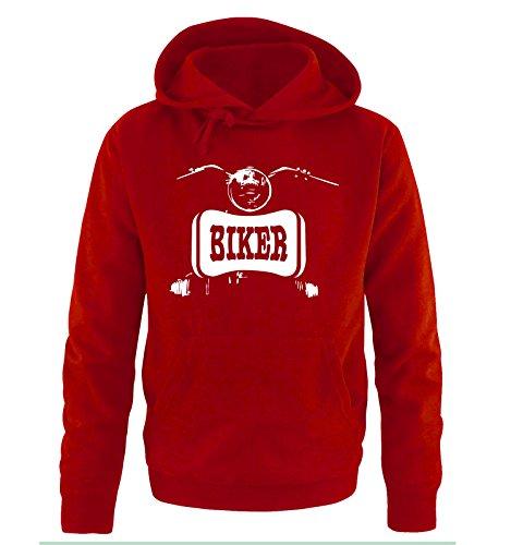 Comedy Shirts -  Felpa con cappuccio  - Maniche lunghe  - Uomo Red / White
