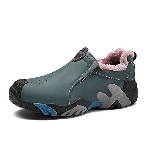 FHCGMX 38-46 Chaussures d'hiver en Cuir Naturel pour Hommes Bottes pour Hommes de Haute qualité