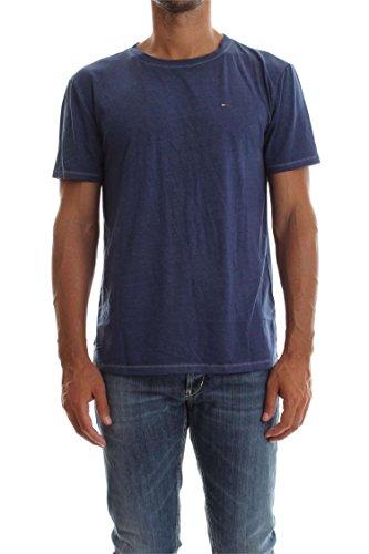 Tommy Jeans Hilfiger Denim Herren T-Shirt Indigo (517) L (517 Jeans)