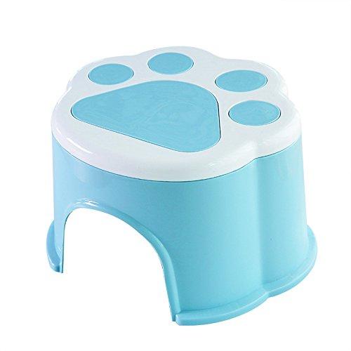 Dana Carrie Le pied en plastique anti-dérapant accueil tabouret tabouret rond d'épaisseur à d'autres bancs de chaussures pour enfants bain mise en œuvre de la marche pied du bébé sur un tabouret bas ,20*18*14cm 5PCS bleu
