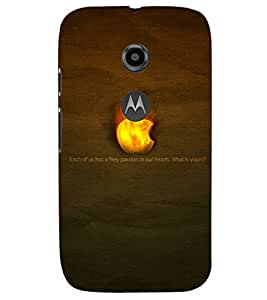 PRINTSHOPPII LOGO FIRE Back Case Cover for Motorola Moto E2::Motorola Moto E (2nd Gen)