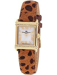 Yonger & Bresson DCP 1695 – 03 – Reloj Mujer – Cuarzo Analógico – Reloj Nacre – Pulsera Piel Marrón