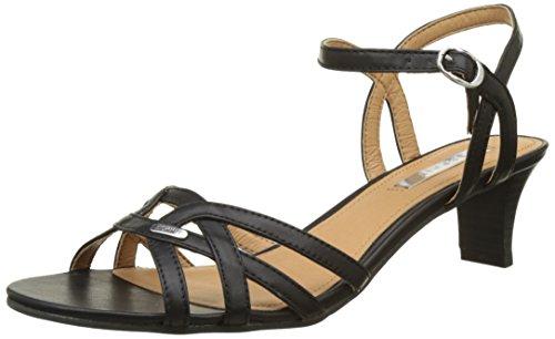 ESPRIT Damen Birkin Sandal Offene Sandalen, Schwarz (001 Black), 41 EU