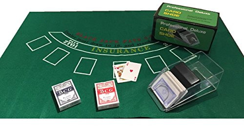 ensemble-de-blackjack-casino-chaussures-cartes-blackjack-en-feutre