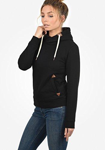 DESIRES VickyHood Damen Damen Hoodie Kapuzenpullover Pullover Mit Kapuze Cross-Over-Kragen Und Fleece-Innenseite, Größe:S, Farbe:Black (9000) - 4