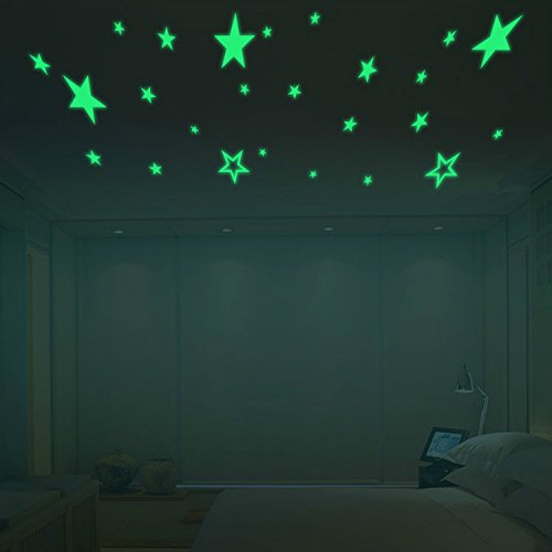 yanqiao-pack-of-27pcs-luminous-stars-glow-in-the-dark-fluorescent-noctilucent-diy-wall-stickers-deca