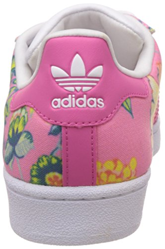 Adidas Superstar W, Scarpe Low-Top Donna, Taglia Unica Multicolore (Raypnk/Raypnk/Ftwwht)